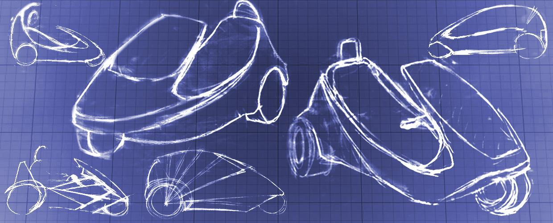 Sinclair C5 Concept Sketch